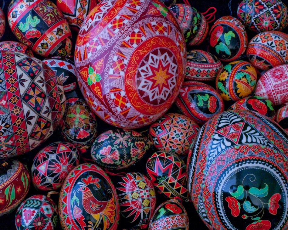 Folk Art Painted Egg Designs